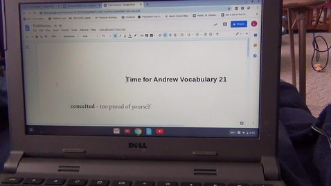 Thumbnail for entry Twenty First Vocabulary Sheet for Time for Andrew by Mary Downing Hahn