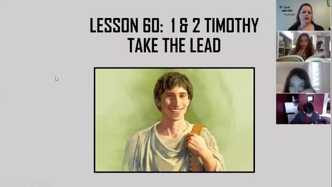 Thumbnail for entry Bible 7A & 7C - 1 & 2 Timothy 4-17-2020