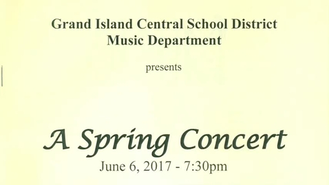 Thumbnail for entry GIHS Spring Choral Concert 6-6-2017