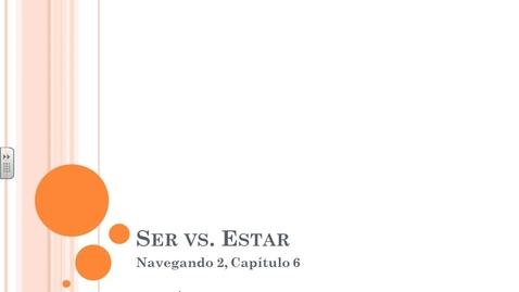 Thumbnail for entry Navegando 2.6 Ser vs. Estar