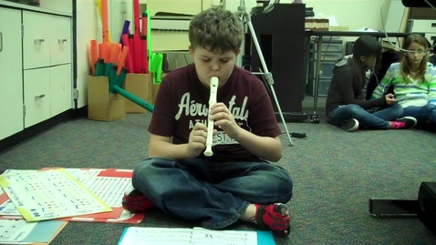 """Thumbnail for entry 5A Green 6 recorder solo called """"French Fries"""" 2012"""