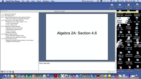 Thumbnail for entry Algebra 2A Section 4.6 (PART 1)