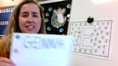 "Thumbnail for entry Wednesday Acitivity Time - Apple Tree craft and ""E"" Hunt"