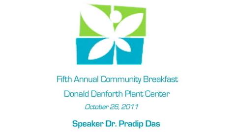 Thumbnail for entry LEF Community Breakfast - Dr. Pradip Das, part 1