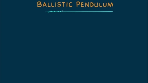 Thumbnail for entry ballistic pendulum for test