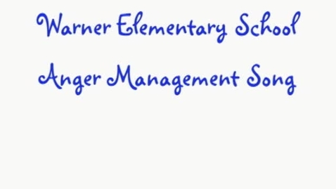 Thumbnail for entry Character Education that works – Anger Management Song