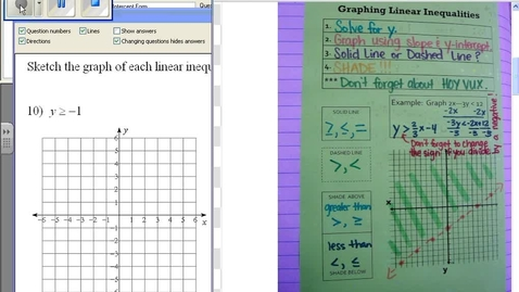 Thumbnail for entry Graphing linear inequalities example #6