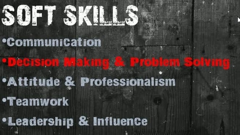 Thumbnail for entry Soft Skills - Problem Solving and Decision Making