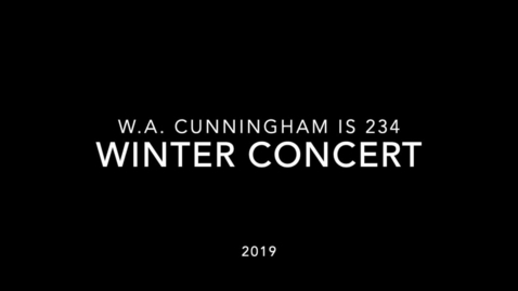 Thumbnail for entry Winter Concert December 10th 2019