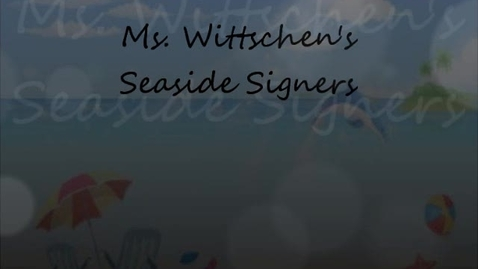 Thumbnail for entry Seaside Signers Day 5