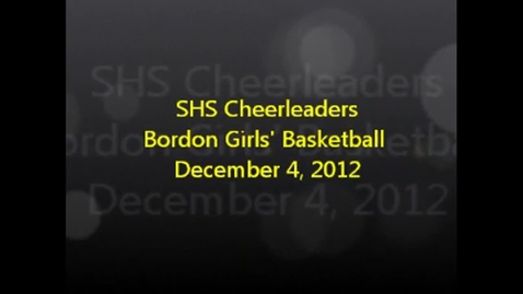 Thumbnail for entry SHS Cheerleaders