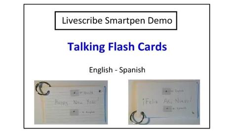 Thumbnail for entry Talking Flash Cards - Livescribe Smartpen