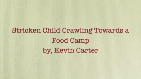 Thumbnail for entry Stricken Child Crawling Towards a Food Camp