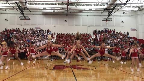 Thumbnail for entry Kirkwood High School Fall Pep Rally 2017 Cheerleaders