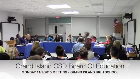 Thumbnail for entry GICSD Board of Education 11-9-2015 Meeting