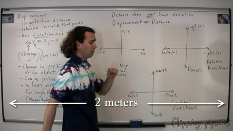 Thumbnail for entry Introduction to Displacement and the Difference between Displacement and Distance
