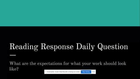 Thumbnail for entry Reading Response Expectations.webm