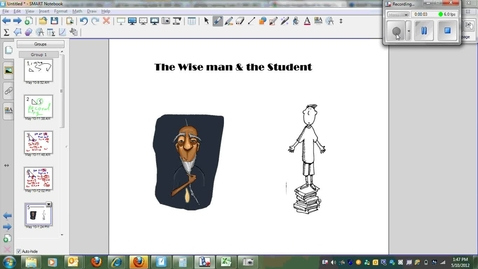 Thumbnail for entry Learning Right Triangle Trigonometry Ratios, the story of the Wise Man & the Student (SOH,CAH,TOA)