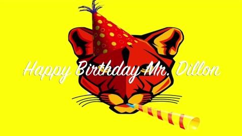 Thumbnail for entry Mr. Dillon's Birthday