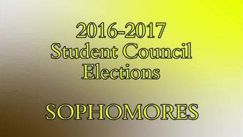 Thumbnail for entry MDN Student Council  - 2016 -17 - Sophomore Elections