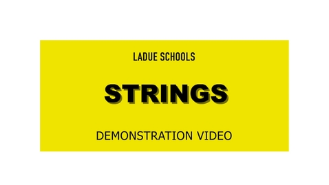 Thumbnail for entry Strings Instrument Demo - Ladue schools