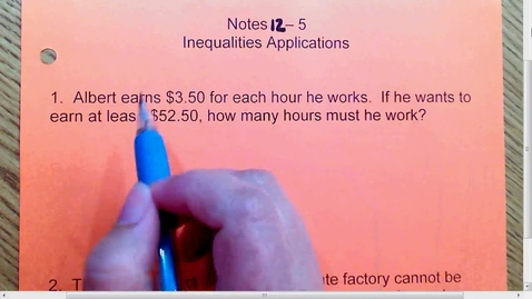 Thumbnail for entry 12.5 Inequality Applicaitons