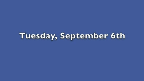 Thumbnail for entry Tuesday, September 6, 2011