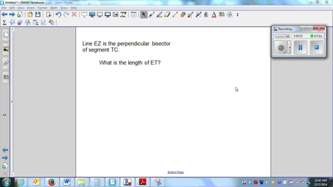 Thumbnail for entry  Perpendicular bisectors (part 1) (W5_L2)-Q2