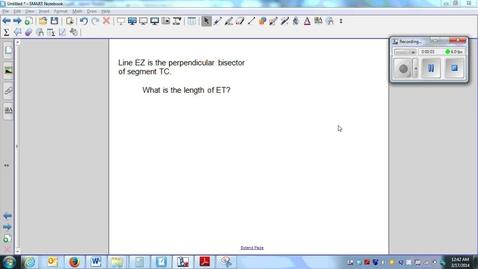Thumbnail for entry  Perpendicular bisectors (part 1) (W5_L2)-Q2