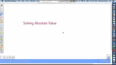 Thumbnail for entry Solving Absolute Value