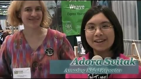 Thumbnail for entry Adora Svitak @adorasv Interviews Weaver Syne Mitchell At 2010 #Seattle Green Festival #greenfest