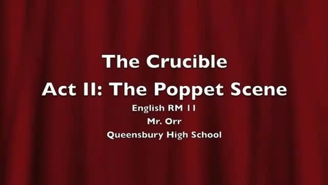 Thumbnail for entry The Crucible: RM 11