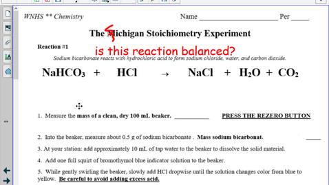 Thumbnail for entry TT The Michigan Stoichiometry Lab