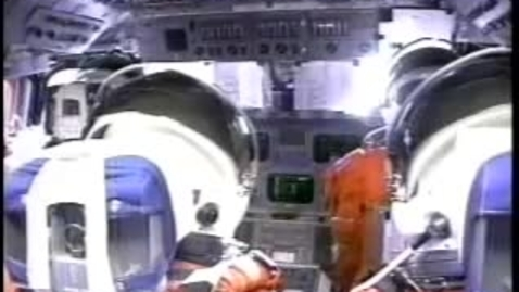 Thumbnail for entry Space Shuttle cockpit view during launch