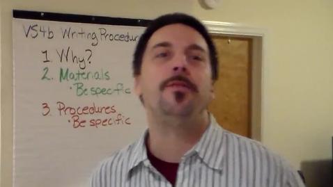 Thumbnail for entry VS4b - Writing Procedures