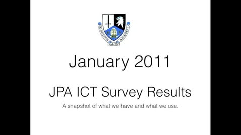Thumbnail for entry JPA ICT Survey 2011