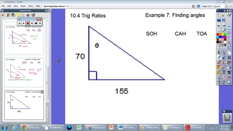 Thumbnail for entry 10.4 Trig Ratios Example #7