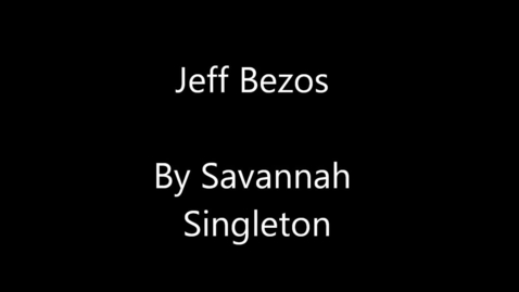 Thumbnail for entry Jeff Bezos