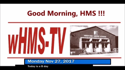 Thumbnail for entry 11-27-17 WHMS Morning News