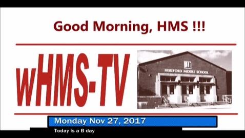 Thumbnail for entry 11-27-17 WHMS Morning News