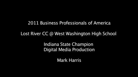 Thumbnail for entry BPA 2011 Digital Media Production Indiana SLC Champion