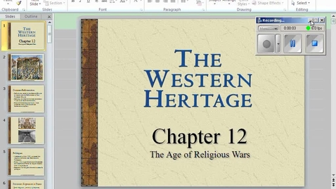 Thumbnail for entry Age of Religious Wars Lecture 1