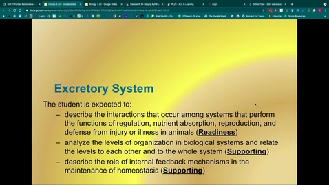 Thumbnail for entry Excretory System Notes