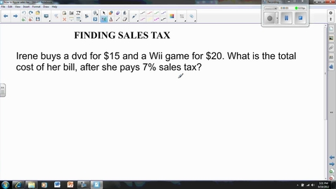 Thumbnail for entry Finding sales tax