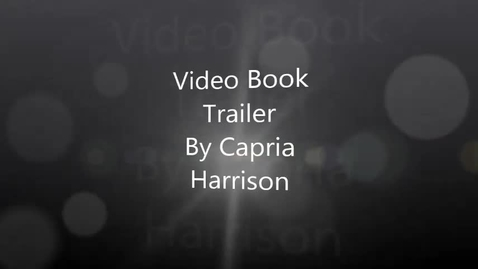 Thumbnail for entry Hard love by Wittlinger video book trailer by Capria Harrison