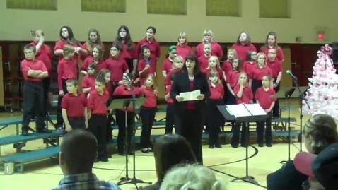 Thumbnail for entry Woodland Honor Choir Christmas Concert Part 3
