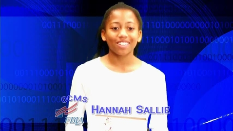 Thumbnail for entry 2017 FBLA Elevator Speech--Oconee Middle --Hannah Sallie