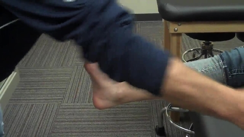 Thumbnail for entry Ankle Taping - Part 1