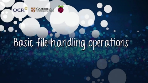 Thumbnail for entry Basic file handling operations - Part B