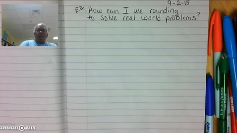 Thumbnail for entry Rounding to Solve Real World Problems